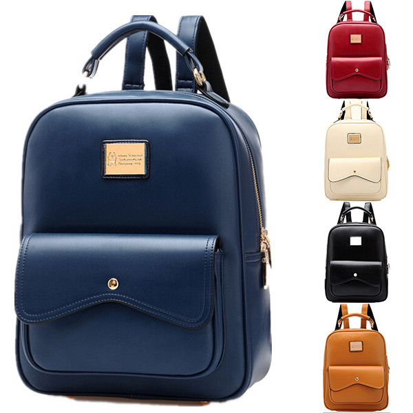 Aliexpress.com : Buy PU leather Backpack Women Campus Style Women ...