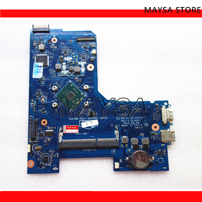Laptop Motherboard For DELL 15 5000 5552 ALL14 LA-C571P CN-0F77J1 0F77J1 DDR3L SR29E N3700 CPU 100% Fully Tested