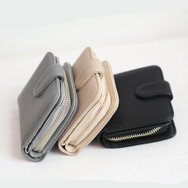 Fashion Womens Coin Purse Zipper Double Open Mini Coin Wallet Female Small Leather Change Purse Girl Purses Card Holder Clutch