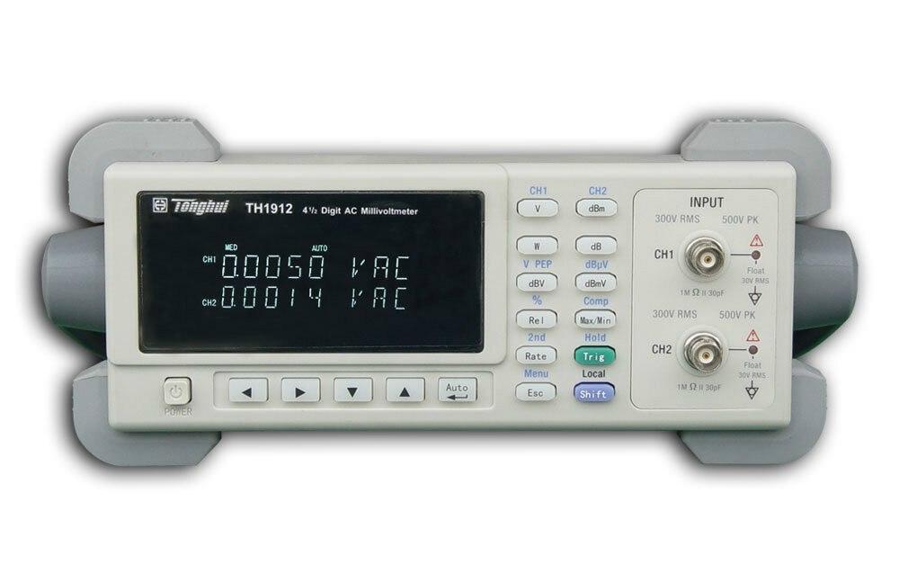 Fast arrival TH1912 4 1/2 power meter Dual channel digital ac millivoltmeter Voltmeter