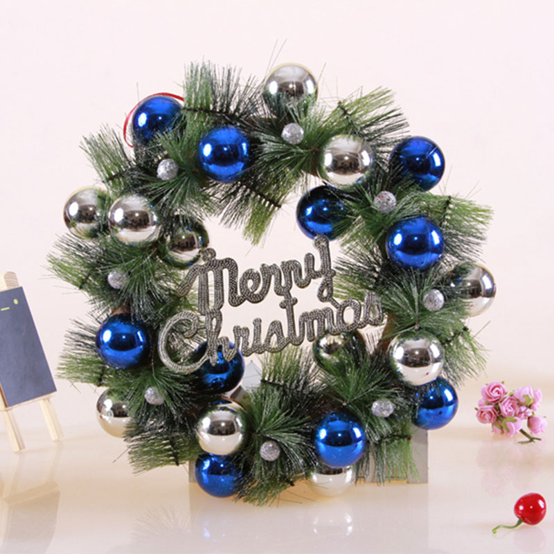 2017 christmas ball pine needles wreath pendant drop ornaments christmas crafts christmas decorations for home xmas gifts santa in artificial dried