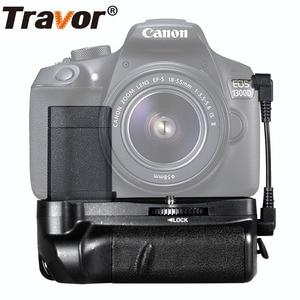 Image 2 - Multi Power Batterie Griff Für Canon 1100D 1200D 1300D EOS Rebel T3 T5 T6 EOS Kuss X50 DSLR Kamera + 2 stücke LP E10 + 2 stücke Objektiv Tuch