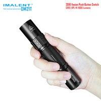 IMALENT DM21t Outdoor Flashlight Cree Xpl Hi Led Max 1000lm Beam Throw 268 Meter Torch 18650 2600mah Li ion Battery High Power