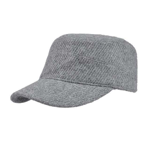 1ff0150e34c KENMONT Men Woolen Army Cadet Military Hat Chic Ski Baseball Cap Adjustable  New 2418