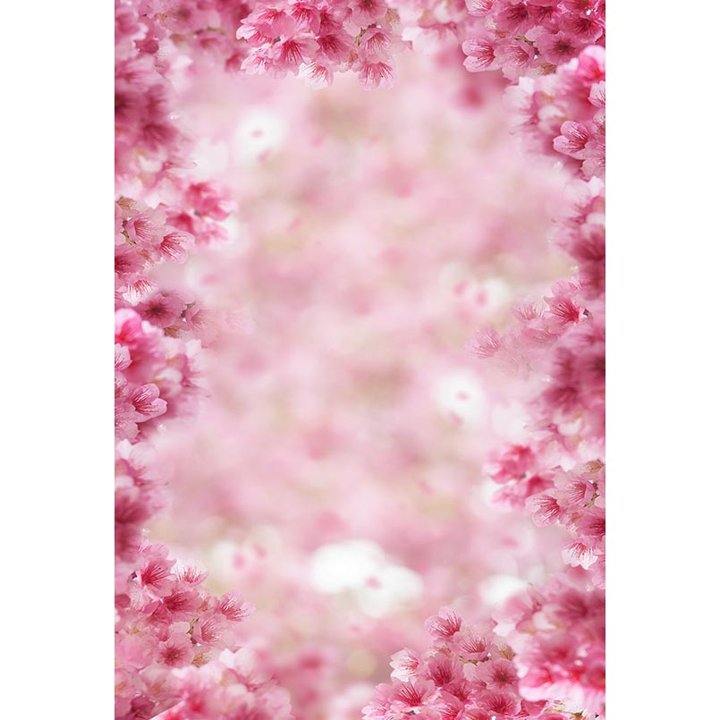 Us 709 25 Offbokeh Photography Backdrops Pink Flowers Background For Studio Baby Shower Wedding Photos Children Portrait Photophone Photocall In