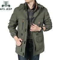 AFS JEEP Brand Clothing Bomber Jacket Men Autumn Winter Multi pocket Waterproof Military tactical Jacket Windbreaker Men Coat