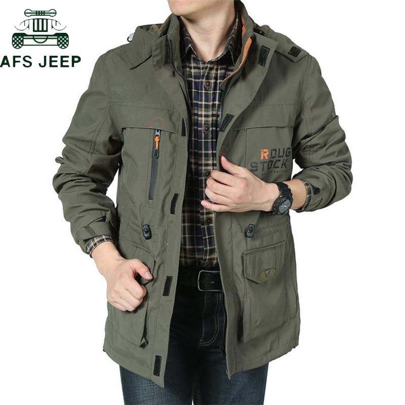 AFS JEEP marque vêtements Bomber veste hommes automne hiver multi-poches imperméable militaire tactique veste coupe-vent hommes manteau