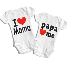 DERMSPE 2019 Baby Jumpsuits 0-24M Summer Newborn Baby Clothes Short Sleeve Printed Loves Boy Girl Romper Outfits