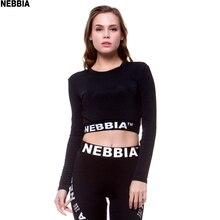 NEBBIA Для женщин укороченные бесшовные с длинным рукавом спортивная одежда для Для женщин футболка для спортзала или йоги отверстие для большого пальца установлены рубашки для тренировки для Для женщин