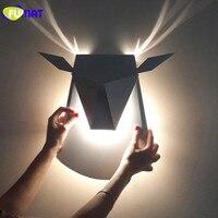 Фумат Nordic современный Настенные светильники ресторан кафе зеркало свет Спальня прикроватной тумбочке настенный светильник прихожей метал