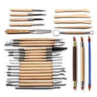30pcs/set Clay Sculpture Tools Pottery Handmade Multi tools Ceramics Plastic Handle Wood Carving Hand Tools Kit