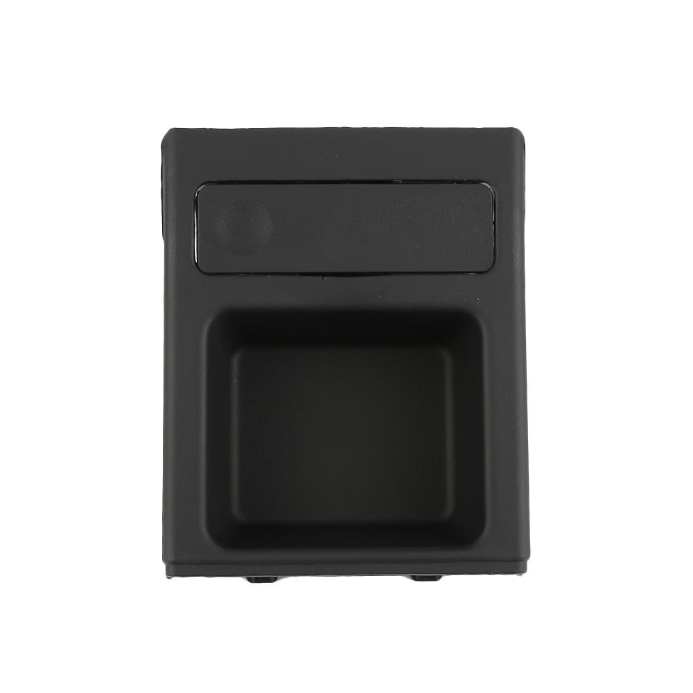 Black Front Center Money Coin Storage Box For BMW E46 318 320 325 330 1998-2005