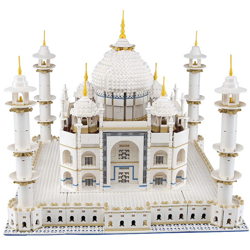 цена на DHL In Stock Lepin 17001 17008 The Taj Mahal Model legoing 10189 Educational Building Blocks Bricks Children Funny Toys Gift