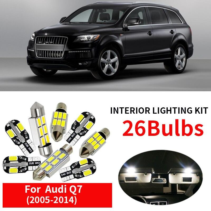 8PCS FOR AUDI A3 SPORTBACK FULL WHITE  INTERIOR CAR LED LIGHT BULBS KIT CAN-BUS