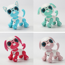 Buy UInteractive Smart Robot Toy Dog Electronic Pet Puppy LED Eyes Sound Recording Sing Sleep Cute Action Education Robotic Toys Dog directly from merchant!