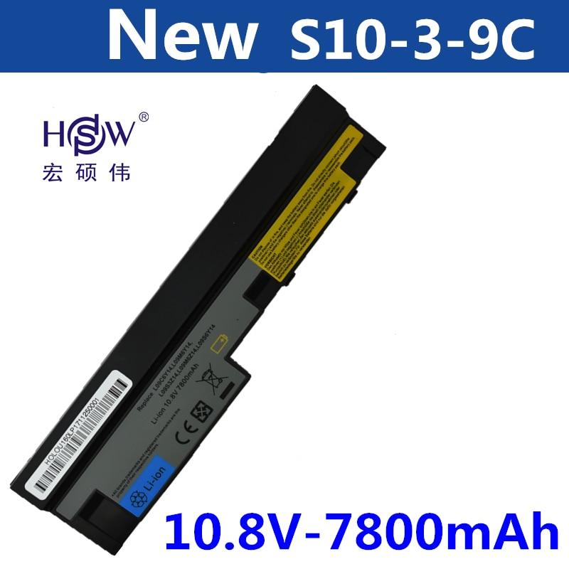 HSW 7800mAh laptop battery for Lenovo IdeaPad S100 S10-3 S205 S110 U160 S100c S205s U165 L09S6Y14 L09M6Y14 9cells batteria akku free shipping for lenovo lenovo ideapad s10 s10 2 s10 3c notebook power interface head
