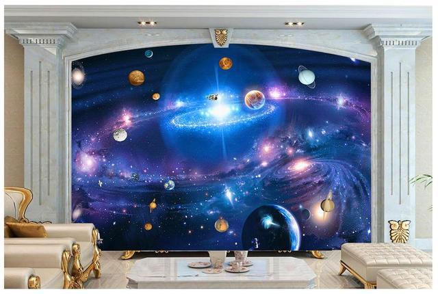 Hochwertige 3d wallpaper wandmalereien tapete Cosmic sternen galaxy ...
