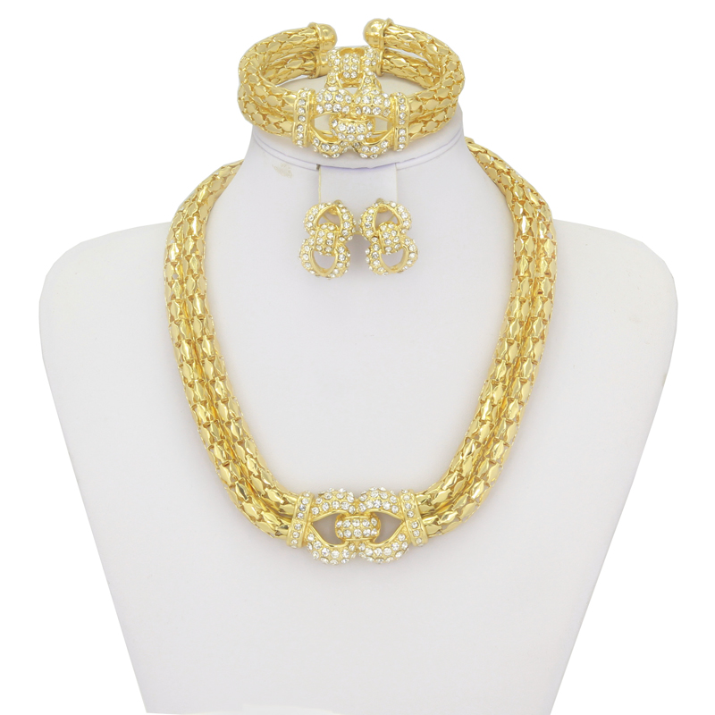 2017 new sales gold fashion jewelry set dubai jewelry sets