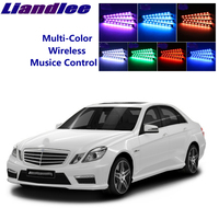 LiandLee For Mercedes Benz E MB W211 W212 W213 C207 Car Interior UnderDash FootWell Seat Accent Music Rhythm Ambient Light