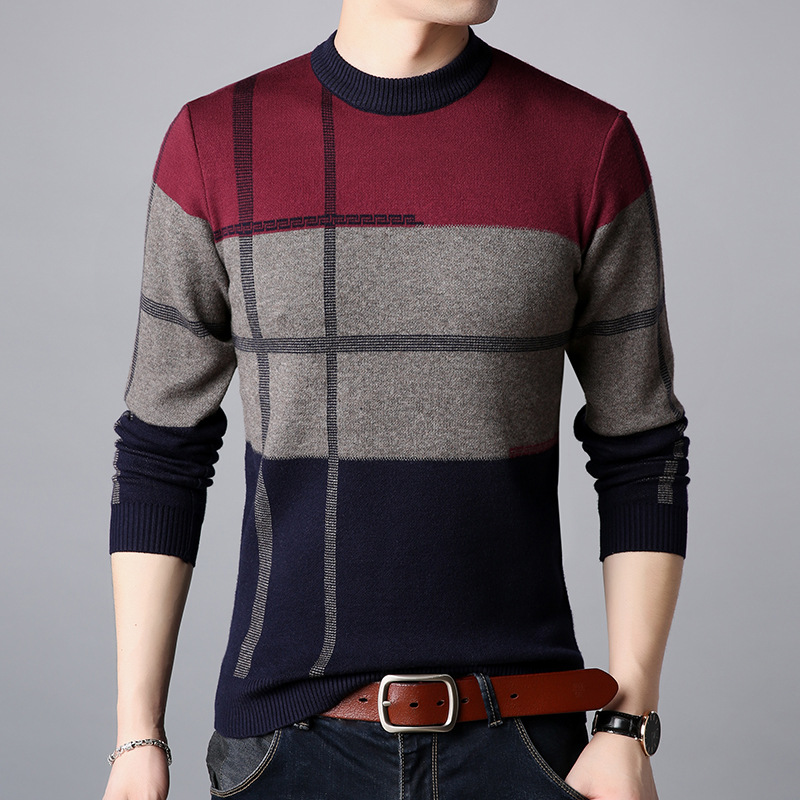 QLM9910 Factory Direct Sales Fashion Casual Middle-aged Knit Sweater Winter 2018 New Quality Soft Comfortable Sweater Men M-XXXL