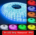 LED strip 5050 Waterproof IP65 12V flexible light 60 leds/m,white warm white red greed blue yellow RGB color, 5m/lot