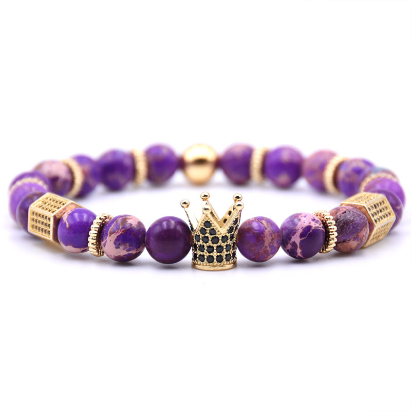 Men Jewelry Cool Bracelet Emperor Stone Crown For Man Bangle
