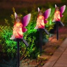 LED Garden Lights Solar LightsFlower Fairy And Bear Solar-Powered Lawn Lamp LED Solar Flamingo Stake Light Lantern Solar Powered