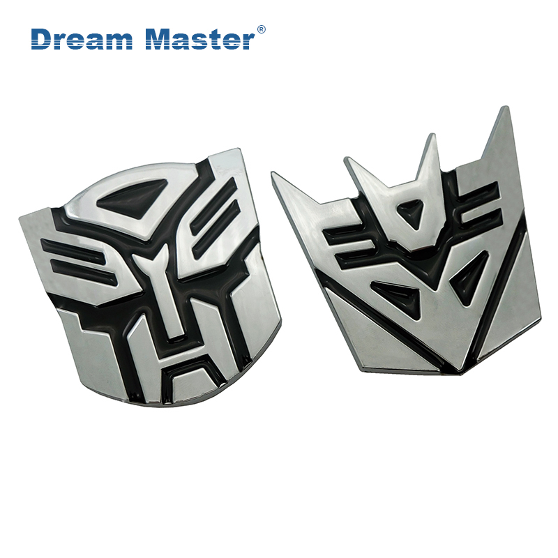7.2x7CM 3D Metal Transformers Autobot Car Motorcycle Sticker Truck Label Emblem Badge Car Styling Decoration Accessories noizzy hemp fimble leaf ho jdm car sticker 3d metal auto green emblem badge for bmw audi vw lada tuning accessories car styling