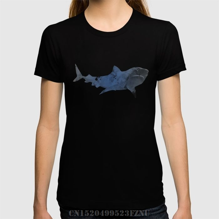 2018 Spring Favourite t shirt women Shark short O neck Novelty Cotton tees homme Clothing