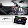 Nueva marca de 5.5 pulgadas de Pantalla HD 2D Efecto Visual Speed Car Head Up Display de Alarma Multi Color Diseño