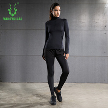 Brand New Women's Yoga Sets Fitness Sportswear Long Sleeve Shirts wth skirt legging Gym Top And Elastic Slim Pants Running Suits
