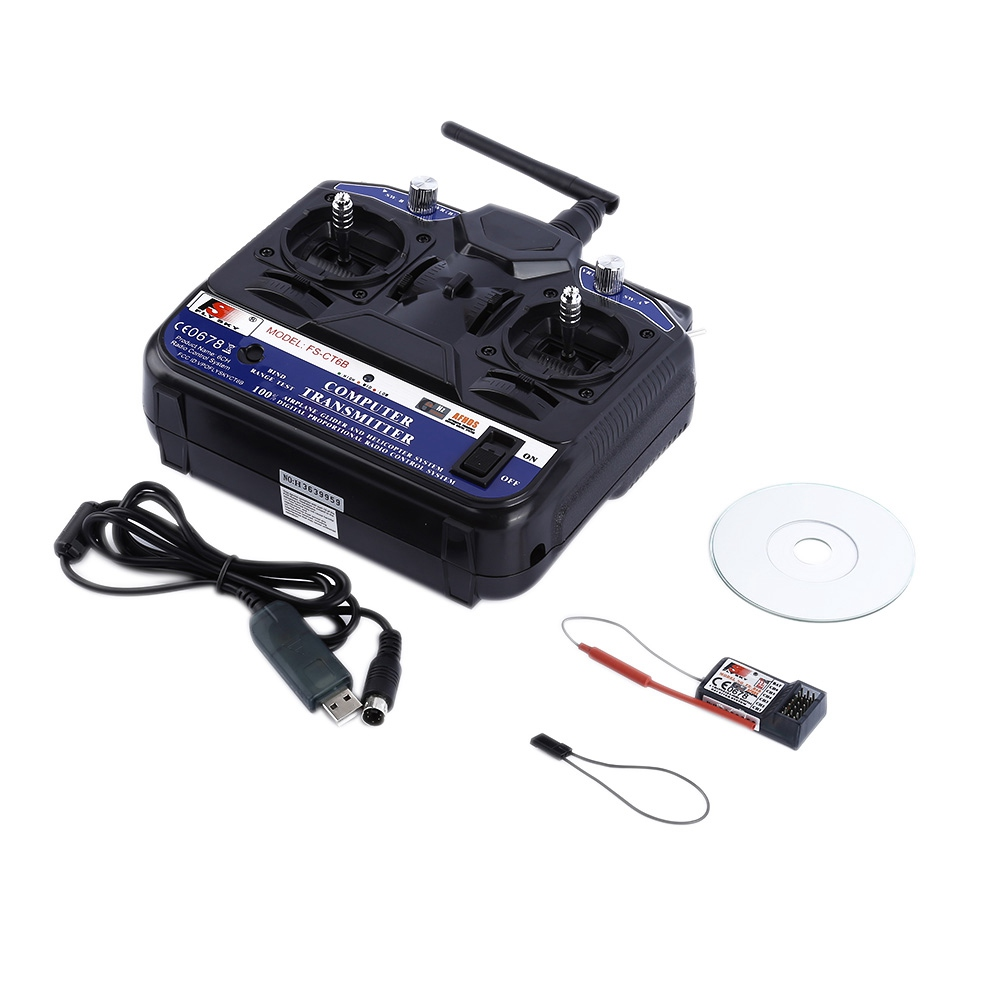 FLY SKY 2.4G FS-CT6B 6 CH Channel Radio Model RC Transmitter Receiver Control FJ88 new hot sale fly sky 2 4g fs ct6b 6 ch channel radio model rc transmitter receiver control dorp shipping