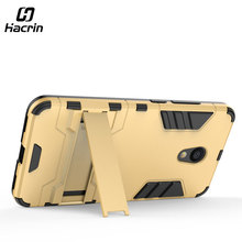 Фотография Hacrin for Meizu M5C Case Anti-Knock Shockproof Protector TPU+PC Case with holder Back Cover For Global Version / Meizu A5
