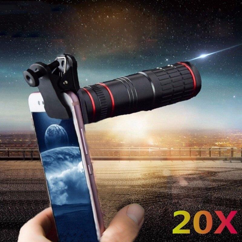 LISHE Universal 20X Telescope Optical Zoom Mobile Phone Lens For IPhone Samsung