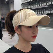 Outdoor Women's Casual Trip Travel Sun Visor Caps Knitted Hats Sport Topless Empty Exposed Sunshade Beach Casquette Golf Hat(China)