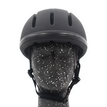 Professional Horse ขี่หมวกกันน็อกปรับขนาดครึ่งหน้าปกหมวกป้องกัน Secure อุปกรณ์สำหรับ Questrian Riders
