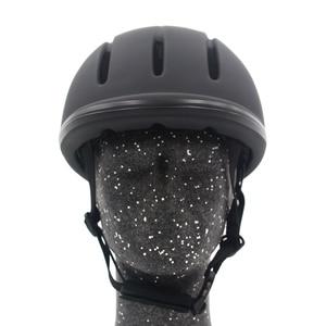 Image 1 - 전문 승마 헬멧 조정 가능한 크기 반 얼굴 커버 Questrian 라이더를위한 보호 헤드 기어 보안 장비