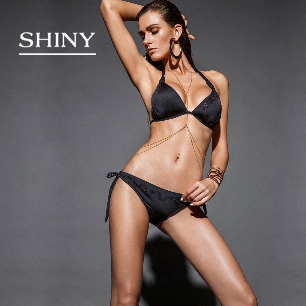 shinysun 2017new Sexy Bikini Push Up Swimwear high-end swimsuit Women Swimsuit leisure bikini two pieces maillot de bain Biqui new sexy swimwear women bikini set halter unpadded bra tankini two piece high neck print swimsuit bikini 2017 maillot de bain