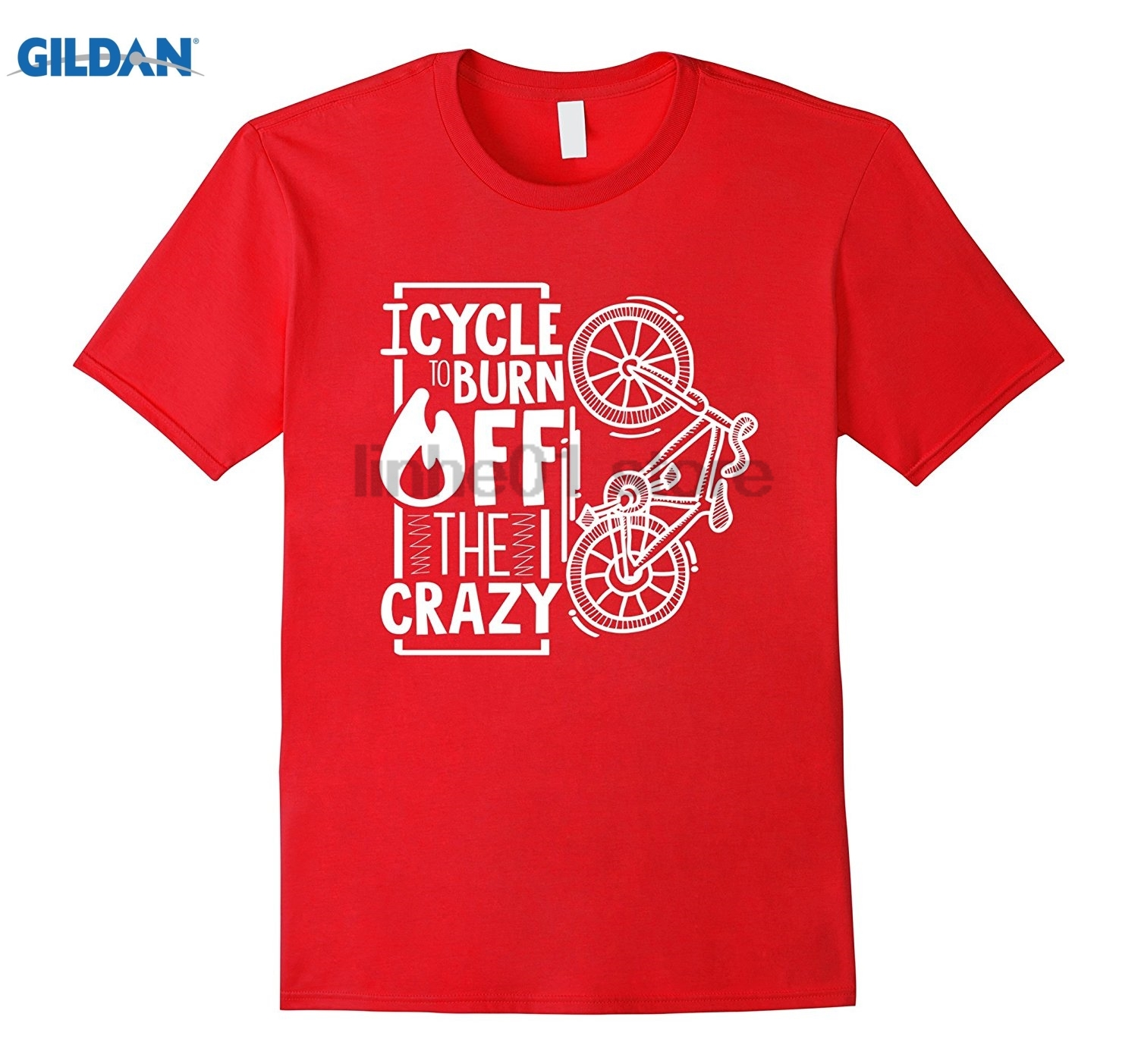 GILDAN I Cycle To Burn Off The Crazy Bicycle Funny T-Shirt summer dress T-shirt Mothers Day Ms. T-shirt