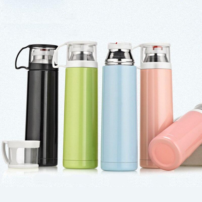 Colleer Oficina Thermos frascos de vacío 500 ml de acero inoxidable aislados thermoses viaje café té bebida deportiva termos taza de agua