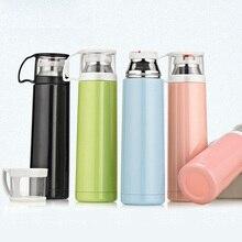 Moda 500 ml Vaso De Acero Inoxidable Con Aislamiento Termo Taza de Vacío Botella de Agua de Viaje Café Té Beber Thermocup Termo