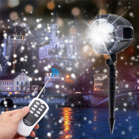 Christmas Laser Snowflake Projector LED Christmas Garden New Year Snowflake Light Outdoor Beautiful Snowscape Manufacturing