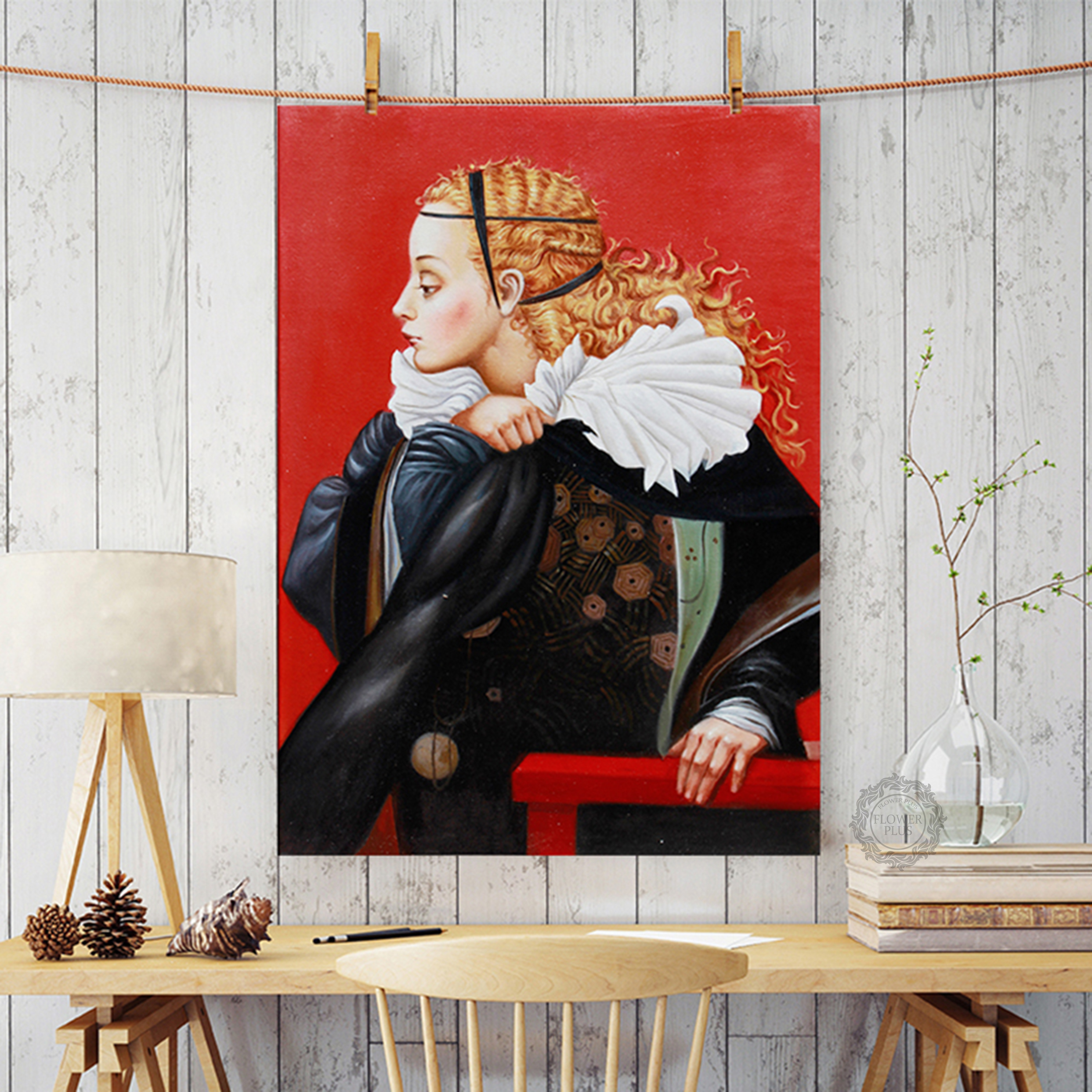 European Style Afiche Retro Classique Medieval Knight Gorgeous Lady Painting On The Wall For Living Room HD Cuadros Decoracion