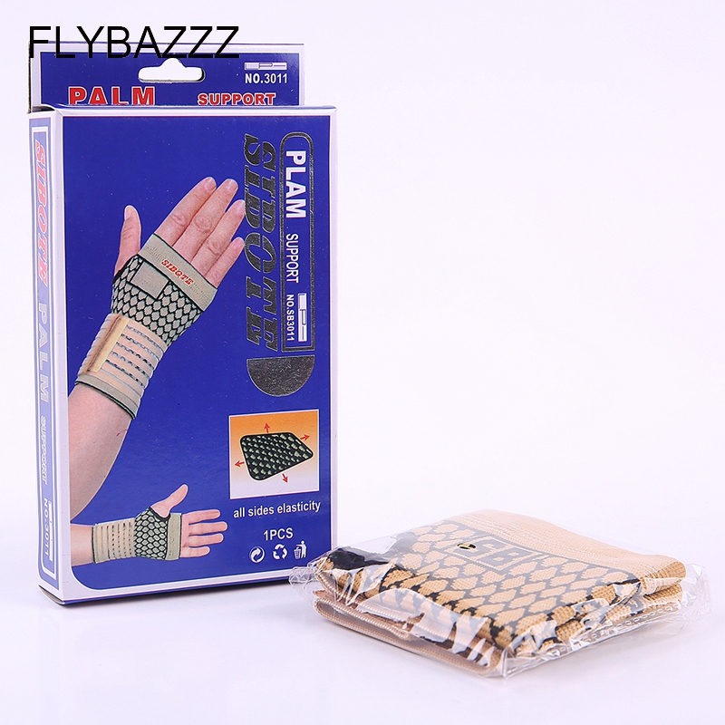FLYBAZZZ 1PCS High Elastic Bandage Fitness Yoga Hand Palm Brace Wrist Support Crossfit Powerlifting Gym Wraps Palm Pad Protector (2)