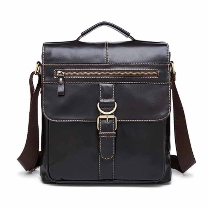 цены Retro Leather Men Shoulder Bag Urban Casual Men Messenger Bag Business Travel Male Cross Body Bags Vintage Bolsas Fashion Bag