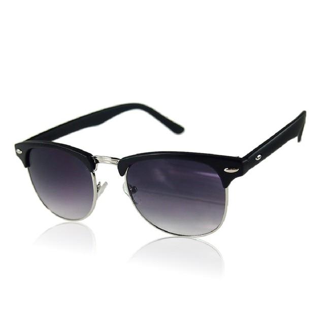 Medio Marco Semi Sin Montura gafas de Gran Tamaño Gafas de Sol Retro ...