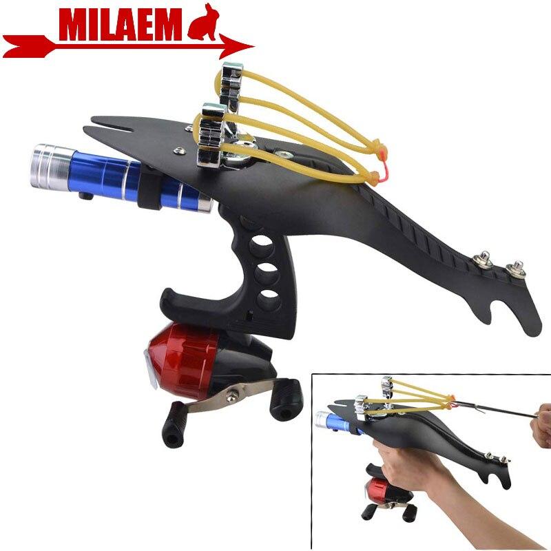 1 Set tir à l'arc tir pêche fronde pêche bobine catapulte poignet fronde tir lanceur de pêche chasse tir accessoires