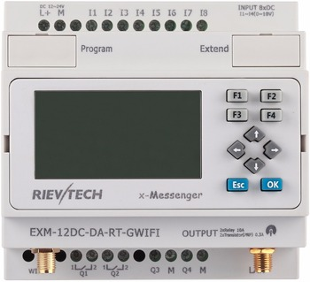 WIFI PLC,ideal solution for remote control& monitoring &alarming applications ,EXM-12DC-DA-RT-GWIFI(White)