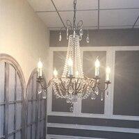 Современные подсвечники антикварные Стиль люстры хрустальные люстры ретро дома декоративные светодиодные лампы Винтаж люстры