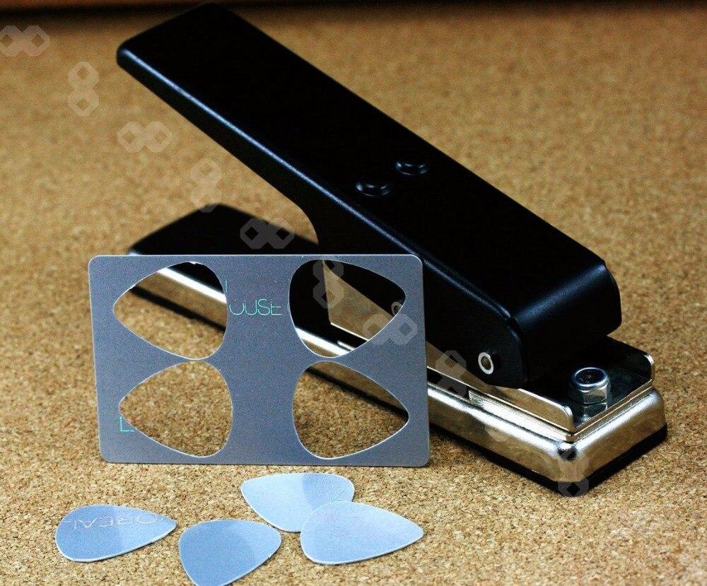 Guitar Pick Punch DIY Plectrum Press Plastic Card Punch Picks Maker Cutter New